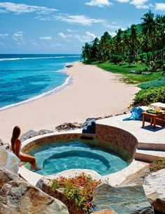 Spa in Peter Island of British Virgin Islands, Caribbean
