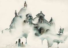 Art / Dreamy Architectural Watercolors by Sunga Park — Designspiration