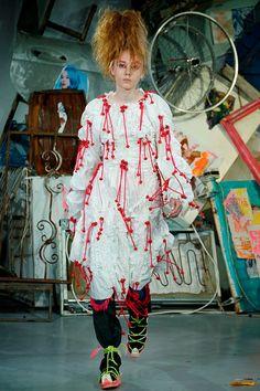 Meadham Kirchhoff S/S 2015 Meadham Kirchhoff, Spring 2015, Bag Accessories, Harajuku, Kimono Top, Fashion Design, Shopping, Tops, Dresses
