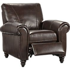 picture of Cindy Crawford Home Lusso Coffee Bean Leather Recliner  from Recliners Furniture