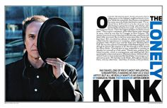 Magazine (Spreads) by Anjan Das from his art direction portfolios on Dripbook. Ray Davies, The Kinks, Magazine Spreads, Feature Article, Rolling Stones, Art Direction, Layout Design, Rolls, Design Inspiration