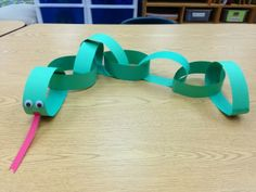 PreK Pets Theme - Paper Chain Snake (even better if used to sequence numbers or alphabets)