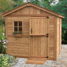 The 8x8 Gardener is a great little shed. Simple, attractive and the perfect size to store all of your gardening tools and supplies. Every gardener will love it! You'll love it! - Western Red Cedar Con