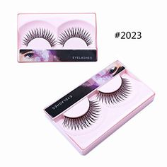 BTArtbox Fashion Black Long Fake Eyelashes Natural Look  Human Hair Reusable False Eyelashes without GluePack of 5 >>> Check this awesome product by going to the link at the image.