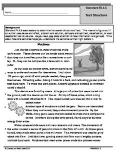 Reading Standards for 4th Grade - Craft and Structure Templates ...