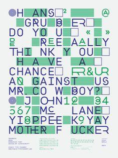 """Affiche présentant la typographie """"Progress"""" par et de superscript."""