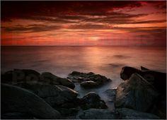 Martina Cross - Sonnenuntergang Nordküste Schottland