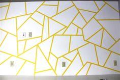 geometric tape design painting