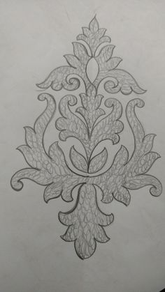Embroidery Wood Carving Patterns, Stencil Patterns, Stencil Designs, Paint Designs, Designs To Draw, Sewing Patterns, Border Embroidery Designs, Embroidery Motifs, Ribbon Embroidery