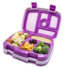 Amazon.com: Bentgo Kids - Leakproof Children's Lunch Box (Purple): Kitchen & Dining