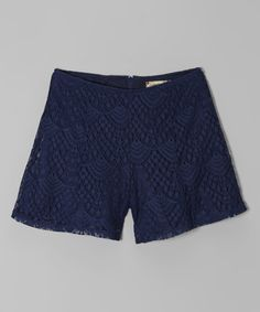 This Navy Lace Shorts by Speechless is perfect! #zulilyfinds