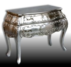 Lisa - Large Silver French Chest of Drawers - Furniture - Home Decor