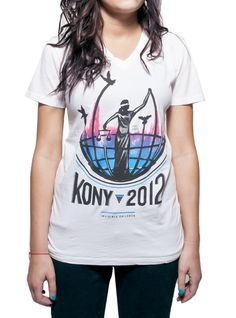 KONY 2012 spread the word and support! invisible children, fashion, ladi justic, cloth, style, joseph koni, koni 2012, kony2012, shirt