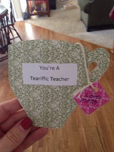 Teacher Appreciation Tea cup with money tea bag