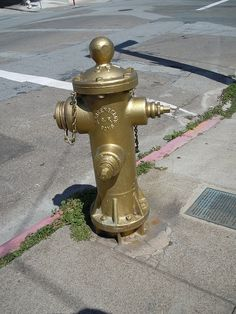 "Fire Hydrant - ""Gold"""
