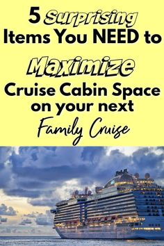 Family cruises are amazing, but they can get cramped if you're not prepared! These 5 items are surprisingly simple, but can save you LOTS of space, trouble, and frustration with your family on your next cruise! Packing List For Cruise, Cruise Tips, Cruise Vacation, Vacation Trips, Travel Couple, Family Travel, Alaskan Cruise, Cruise Destinations, Family Cruise