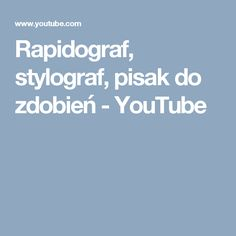 Rapidograf, stylograf, pisak do zdobień - YouTube