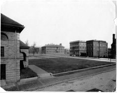 View of campus buildings | Goucher College Digital Library