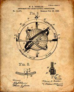 Se trata de una copia de la patente para una observación náutica patentes a partir de 1895. La patente original ha sido limpiada y mejorado para crear una pieza de exhibición atractiva para su hogar u oficina. Esto es una gran manera de poner tus intereses y aficiones en exhibición. Idea de regalo maravilloso también.  La imagen se imprime en papel ácido, profesional gratis, archivo mate arte dando la imagen de colores ricos y vibrantes.  Impresiones son empaquetadas en fundas libres de…