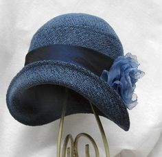 #blue #cloche #hat