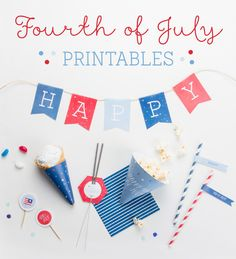 Happy Fourth of July Printables ~ Tinyme