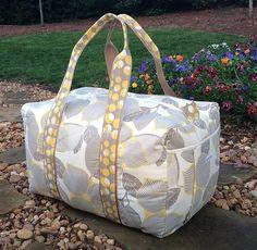 Amy Butler Print Weekender Duffle Travel Bag