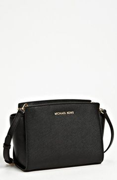 MICHAEL Michael Kors 'Selma - Medium' Leather Shoulder Bag available at #Nordstrom