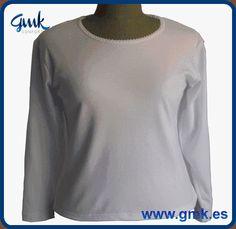 Modelo 0105 - Camiseta interior de manga larga para señora