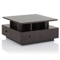 Furniture of America Terrenal Tiered Espresso Coffee Table - 18108803 - Overstock - Great Deals on Furniture of America Coffee, Sofa & End Tables - Mobile 4 Drawer Coffee Table, Espresso Coffee Table, Lift Top Coffee Table, Coffee Table With Storage, Coffee Table Design, Coffe Table, Expresso Coffee, White Coffee, Coffee Latte