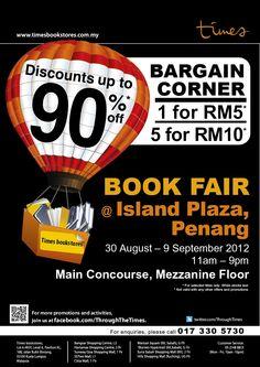 Times Book Fair @ Island Plaza . 30 Aug 2012 – 09 Sep 2012 . 11.00am – 9.00pm