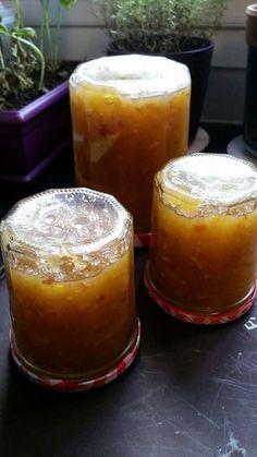 confiture de courgettes à l'orange et aux raisins