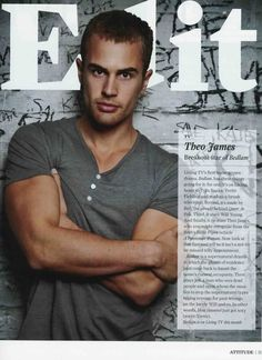 "Theo James In ""Attitude"" Magazine"