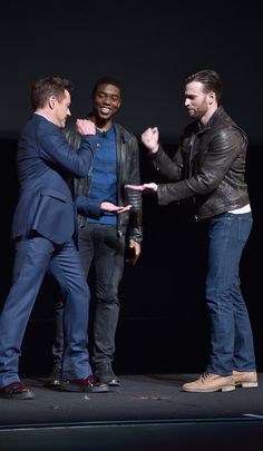Chris Evans, RDJ and Chadwick Boseman