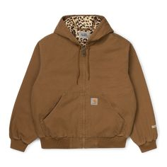 Carhartt WIP x Wacko Maria: Because Your Gritty Workwear Deserves Some Leopard Print | GQ Printed Workwear, Workwear Brands, Party Logo, Vest Jacket, Hooded Jacket, Loose Fit, Carhartt Wip, Best Mens Fashion, Shopping