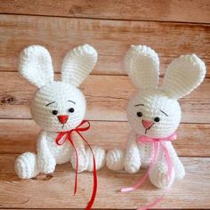 lapin blanc motif amigurumi gratuit