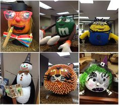 Oak Ridge Elementary School Pumpkin design contest entrants.  Visit our facebook page www.facebook.com/peoplesbanktexas for more!