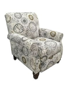 Timeless Patina Clockwork Accent Recliner by Serta Upholstery