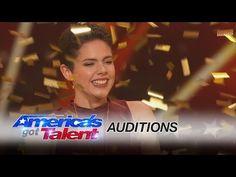 Calysta Bevier: Teen Cancer Survivor Gets Simon Cowell's Golden Buzzer - America's Got Talent 2016 - YouTube