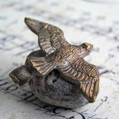FLY AWAY...  vintage metal bird... Feb 14FL by CoolVintage on Etsy