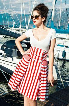 Fontana Skirt  *RED*