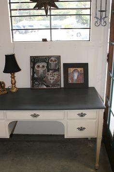 Reloved Rubbish: Graphite and Old Ochre Desk