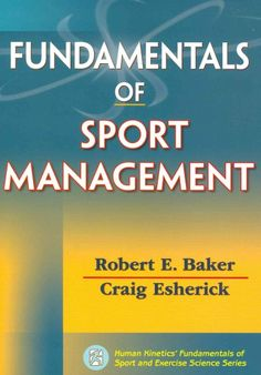 Written by an author team with experience in both the academic world and sport industry, this title combines introductory concepts with practical information in sport management. It provides foundational knowledge of sport management to help readers prepare for advanced study or a career in the industry.