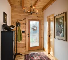 Your guests are coming to check out your new log cabin...but boy will they be shocked when they walk in the front door and immediately see the modern rustic design.