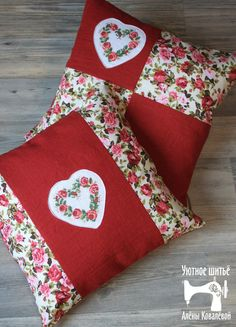 Wonderful Mesmerizing Sewing Ideas for All. Awe Inspiring Wonderful Mesmerizing Sewing Ideas for All. Sewing Pillows, Diy Pillows, Decorative Pillows, Throw Pillows, Easy Sewing Projects, Sewing Crafts, Patchwork Cushion, How To Make Pillows, Love Sewing