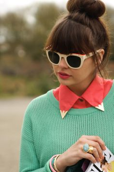 64943d7f26e awesome modcloth mint and coral done right by blogger fashion blog Collar  Tips