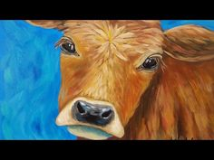Cow Acrylic Painting Tutorial LIVE Beginner Step by Step Impressionist Lesson Acrylic Portrait Painting, Simple Acrylic Paintings, Acrylic Painting Tutorials, Acrylic Art, Diy Painting, Painting Classes, Painting Techniques, Cow Paintings On Canvas, Animal Paintings