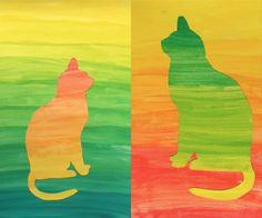 Un interessante esercizio sulle gradazioni cromatiche è stato fatto nelle classi 2° combinando uno sfondo e una silhouette dipinte con gradazioni a colori complementari. Gli studenti hanno prima d…