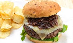 Check out this recipe for Bison Burgers with Sautéed Cabernet Onions & White Cheddar Cheese!