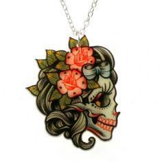 Lady Skull pendentif - would be a cute tat