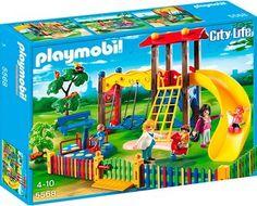 Set de #Playmobil: Parque infantil con torre de juegos, togobán, carrusel y mucho más.